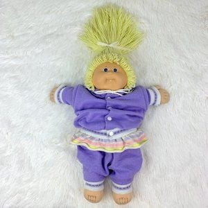 VTG 1985 Cabbage Patch Doll Blonde Hair Blue Eyes